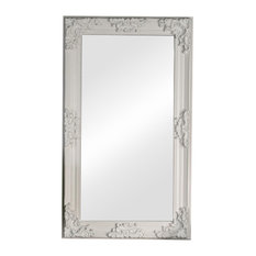 Large Ornate White Wall / Leaner Mirror 70cm x 120cm