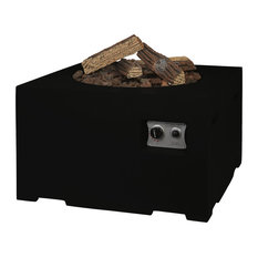 Small Square Cocoon Fire Pit, Black