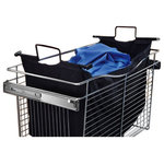 """REV-A-SHELF, INC. - Rev-A-Shelf, CHBI-241618-1, 24"""" Hamper Bag Insert, 24"""" - Turn your 24"""" Wide Closet basket into a Hamper with this cloth insert.  The durable liner can be used in pantries, garages, vanities, laundry rooms or anyplace you have a Rev-A-Shelf closet basket.  Handles make it easy to remove the liner from your basket. Velcro straps hold basket liner in place Liner can be used with CB-241618 Series (1) Black liner Limited lifetime warranty Dimensions: 24"""" W x 16"""" D x 18"""" H Color: Black Material: Cloth"""