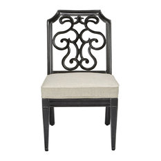 A.R.T. Home Furnishings Arch Salvage Outdoor Gabrielle Chairs, Set of 2, Black
