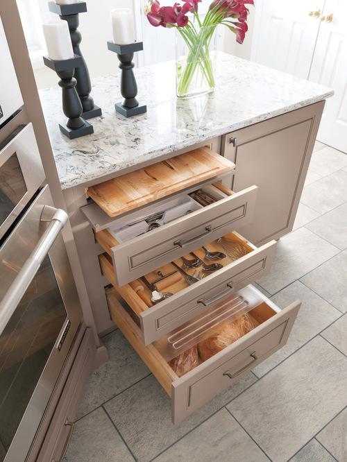 diamond cutting board bread drawer kitchen cabinetry - Cutting Kitchen Cabinets