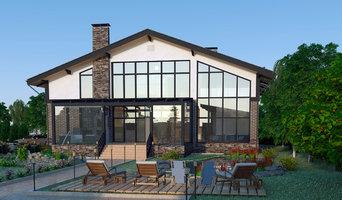 Проект загородного дома с мансардным этажем и террасой