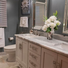 Marvelous Updated White U0026 Gray Bathroom