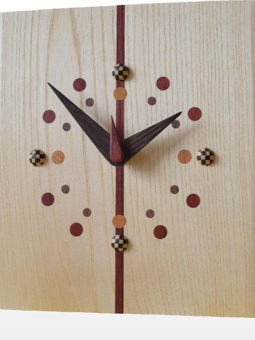 一枚板時計(ホワイトアッシュ) - 時計