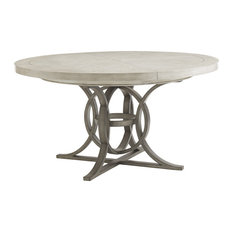 Lexington Oyster Bay Calerton Round Dining Table, Light Oyster Shell