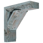 Ekena Millwork - Vintage-Style Farmhouse Bracket, Barnwood Decor Collection, Set of 2 - A rustic-lover's dream for adding architectural depth or decor to any living space. This bracket's weathered wood adds an aged, authentic feel when you are trying to embrace the modern farmhouse decor.