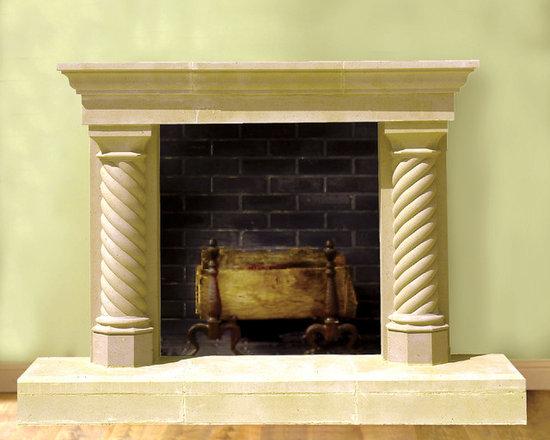 Sheridan Cast Stone Fireplace Mantel   Indoor Fireplaces  Cast Stone Fireplace
