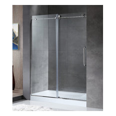 ANZZI Madam Series 48 In. By 76 In. Frameless Sliding Shower Door In Chrome With