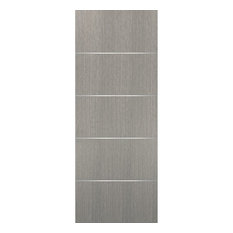 Slab Barn Door Panel 24 x 80 | Planum 0020 Grey Oak | Solid Doors Pocket Closet