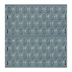 Adobe Textured Subway Tiles, Acqua, Set of 11
