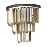 Ingot 2 Light Crystal Prism Wall Light, Rust