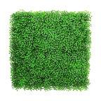 """12-Piece 20""""x20"""", Light Green Artificial Boxwood Hedge Mat UV Proof Garden Fence"""