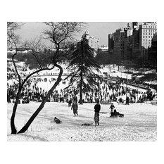 "Central Park Sledding, 1935, 11""x14"""