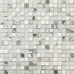 """Emser Tile - Lucente Ambrato .625X.625/12""""x12"""" Glass Mosaic Tile, Set of 10 - Lustrous color shines through in this exclusive glass wall tile. Lucente can be used on its own to make a statement or combined with natural stone or porcelain as a decorative accent. For a real splash, use Lucente in your pool waterline and see the shimmering effect created by the water and tile. The possibilities are endless!"""