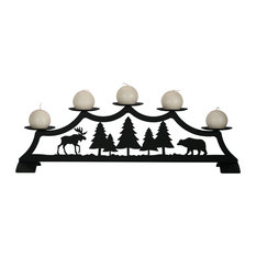 Moose Fireplace Pillar Candleholder
