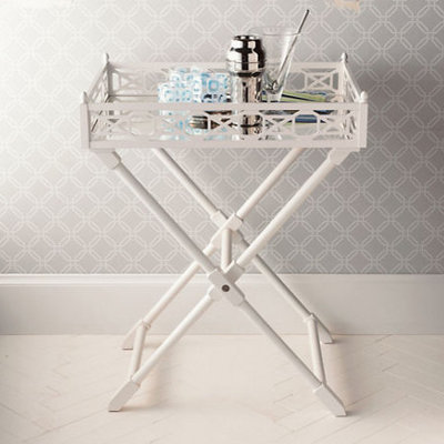 Traditional Tv Trays Fretwork Tray Table