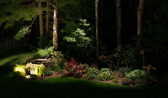 Backyard Water Feature with Down Lighting