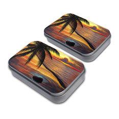Ambient Beach Sunset Tin Set