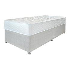 Ortho Premium Divan Bed and Mattress Set, Beige, Single