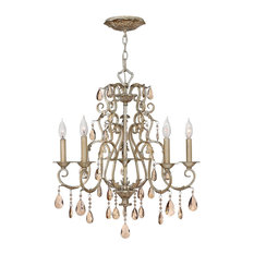 Carlton 5 Light Foyer Pendant in Silver Leaf