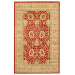 Unique Loom - Unique Loom Edinburgh Adel Area Rug, Red, 5'x8' - The classic look of the Edinburgh Collection is sure to lend a dignified atmosphere to your home. With an array of colors and patterns to choose from, there�s a rug to suit almost any taste in this collection. This Edinburgh rug will tie your home�s decor together with class and amazing style.