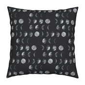 Moon Phase Astrology Watercolor Handdrawn Throw Pillow Cover Velvet