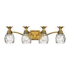 Tropical bathroom lighting Spa Hinkley Lighting Inc Hinkley Lighting Light Bathroom Vanity Fixture In Burnished Brass Houzz 50 Most Popular Tropical Bathroom Vanity Lights For 2019 Houzz