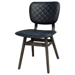Four Hands - Sloan Dining Chair, Ebony - Balancing dramatic scale with flea marketing-find design, the Irondale Sloan Dining Chair offers comfortable seating in fresh lines and buttery top grain leather.