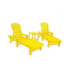 POLYWOOD South Beach Chaise 3-Piece Set, Lemon