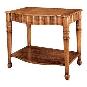 Scalloped End Table  Emanuel Morez Inc