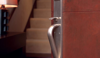 Metro Entry Set - White Bronze Brushed Finish