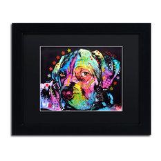 """Dean Russo 'Young Mastiff' Framed Art, Black Frame, 11""""x14"""", Black Matte"""