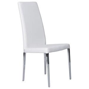 Magda Modern Chair, White