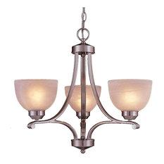Minka Lavery Lighting 1423-84 Paradox 3 Light Chandelier, Brushed Nickel
