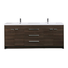 "Eviva Lugano 84"" Bathroom Vanity, Gray Oak"