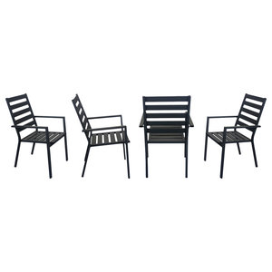 Outdoor Dining Chairs, Set of 4, Anthracite