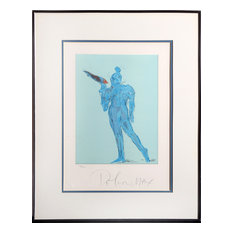 """Peter Max """"Circus Performer With Bird"""" Lithograph"""