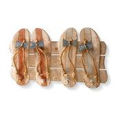 "Wood Coat Rack Decoration, 19"""