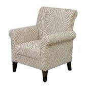 GDF Studio Percy Zebra Fabric Club Chair
