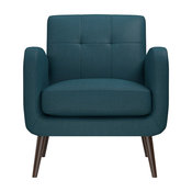 Kenneth Linen Chair, Peacock Blue