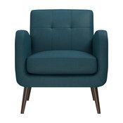 Kenneth Mid Century Modern Arm Chair, Peacock Blue