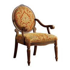Hammond Traditional Hammond Accent Chair, Antique Oak