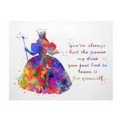 Glinda The Good Witch Wizard Of Oz Contemporary Watercolor Art Print