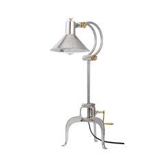 Retro Modern Silver Arch Tripod Desk Lamp Adjustable Height Hand Crank Desk