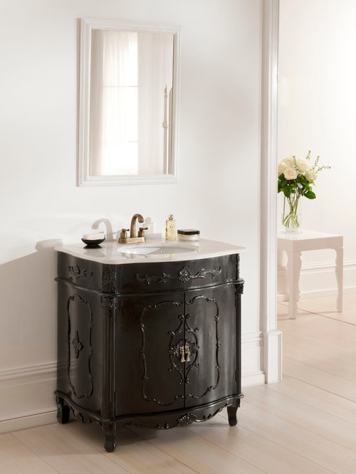 Black Antique French Vanity Unit - Bathroom Vanities And Sink Consoles