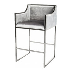 Erin Bar Chair Silver