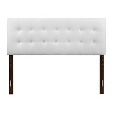 Glory Furniture - Novo 2 Faux Leather Headboard, White, Queen - Headboards