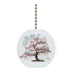 Carolina Hardware and Decor, LLC - Blossoming Tree Watercolor Ceiling Fan Pull - Ceiling Fan Accessories
