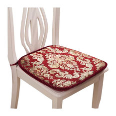 Creative Retro Style Seat Cushion Soft and Comfortable Chair Cushion, Red