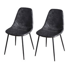 John Dining Chairs, Black, Set of 2